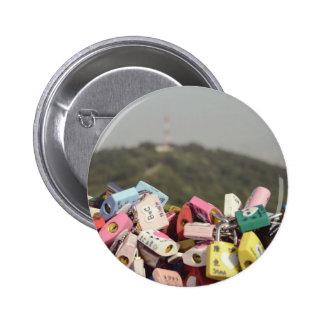 Love Locks Seoul Pinback Buttons