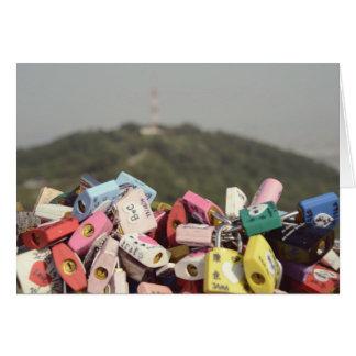 Love Locks Seoul Greeting Cards