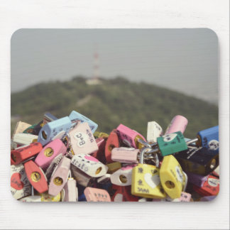 Love Locks Seoul Mouse Pads