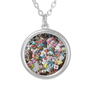 Love Locks Silver Plated Necklace
