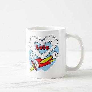 Love Lolo Kids Airplane Coffee Mugs