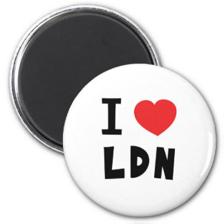 Love London 2 Inch Round Magnet