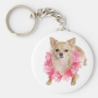 Love Long Hair Chihuahua Puppy Dog Keychain