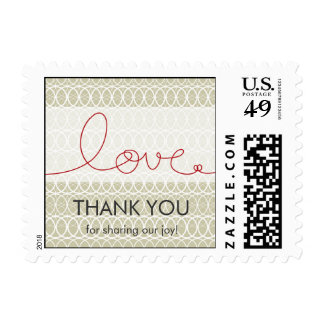 Love Loop Heart Modern Wedding Thank You Stamps