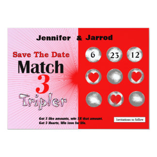 Love Lotto Scratch Off Save the Date Announcement