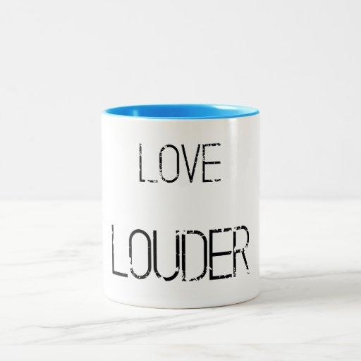 Love Louder grunge mug