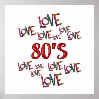 Love Love 80s Poster