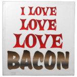 Love Love BACON Cloth Napkin
