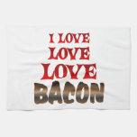 Love Love BACON Kitchen Towel