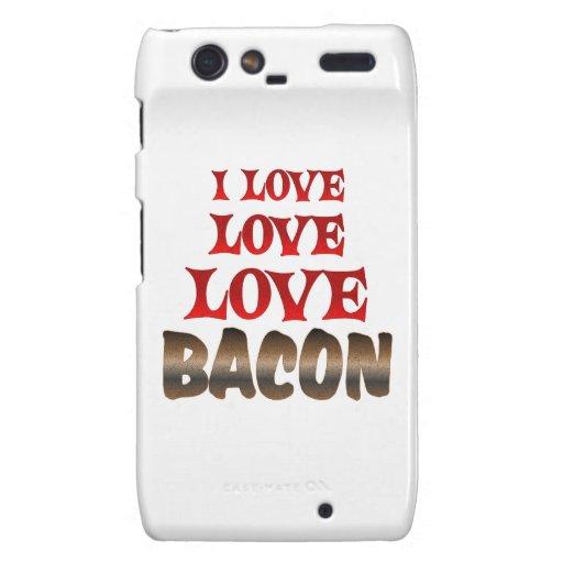 Love Love BACON Motorola Droid RAZR Covers