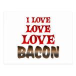 Love Love BACON Postcards