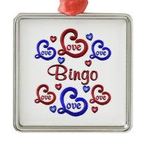 LOVE LOVE Bingo Metal Ornament