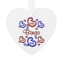 LOVE LOVE Bingo Ornament