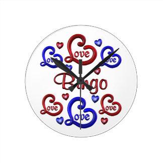 LOVE LOVE Bingo Round Clock