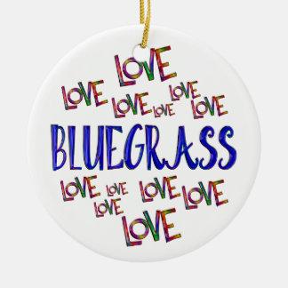 Love Love Bluegrass Ceramic Ornament
