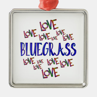 Love Love Bluegrass Metal Ornament