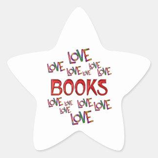Love Love Books Star Sticker