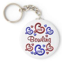 LOVE LOVE Bowling Keychain