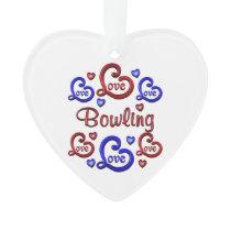 LOVE LOVE Bowling Ornament