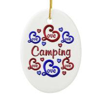 LOVE LOVE Camping Ceramic Ornament