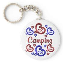 LOVE LOVE Camping Keychain