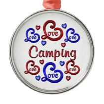 LOVE LOVE Camping Metal Ornament
