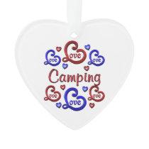 LOVE LOVE Camping Ornament