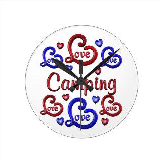 LOVE LOVE Camping Round Clock