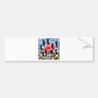 Love love cat and Matsuyama castle Bumper Sticker