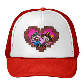 love love choco trucker hat