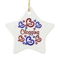 LOVE LOVE Clogging Ceramic Ornament
