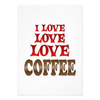 Love Love Coffee Custom Invites