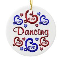 LOVE LOVE Dancing Ceramic Ornament