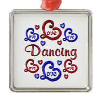 LOVE LOVE Dancing Metal Ornament
