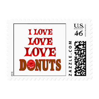 Love Love Donuts Postage