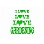 Love Love Gardening Postcard