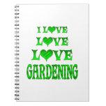 Love Love Gardening Spiral Notebooks