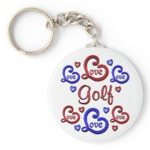LOVE LOVE Golf Keychain