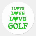 Love Love Golf Sticker