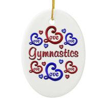 LOVE LOVE Gymnastics Ceramic Ornament