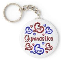 LOVE LOVE Gymnastics Keychain