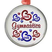 LOVE LOVE Gymnastics Metal Ornament