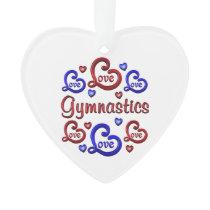 LOVE LOVE Gymnastics Ornament