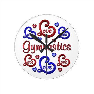 LOVE LOVE Gymnastics Round Clock