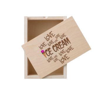 Love Love Ice Cream Wooden Keepsake Box