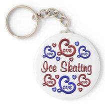 LOVE LOVE Ice Skating Keychain