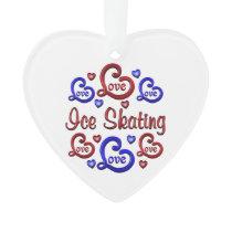 LOVE LOVE Ice Skating Ornament