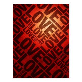 Love Love in Red Postcard