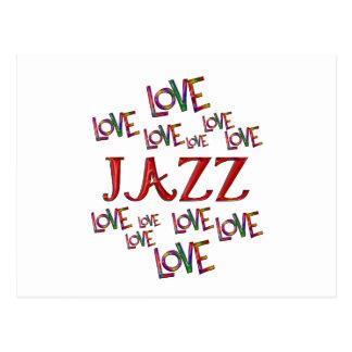 Love Love Jazz Postcard