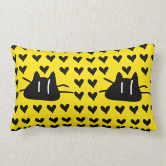 LOVE LOVE KITTY CATS LUMBAR PILLOW